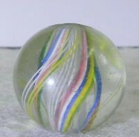 #11446m Larger .88 Inches Vintage German Handmade Swirl Shooter Marble