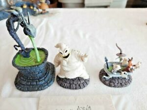 """Nightmare Before Christmas Hawthorne Village """"Filled with Fright"""" Set w/COA"""