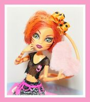 ❤️Monster High Toralei Stripe Fearleading Squad Werecat Doll TAIL Outfit Shoes❤️