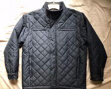 Men's North 40 black solid quilted lined biker jacket size XL