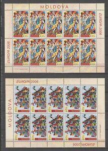 s36008 MOLDOVA 2006 EUROPA CEPT MNH** MSx2 INTEGRAZIONE