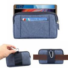 Mobile Phone Case Belt Clip Cowboy Cloth Bag for Samsung S10+ S10E S9+ S8 Note 9