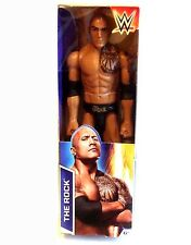 "Wwf wwe wrestling classique dwayne johnson the rock mattel 12"" figurine"