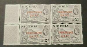 CLASSIC GB NIGERIA CAMEROONS U.K.T.T. 2d BLOCK OF 4 NR 4Aa-c VF MNH WK4.5 0.99$