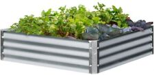 Raised Garden Bed 40 in. x 40 in. x 10 in. Square - Galvanized Steel Finish