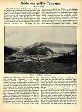 B.Clemenz Schlesiens größte Talsperre im Bober bei Mauer Histor.Memorabilie 1912