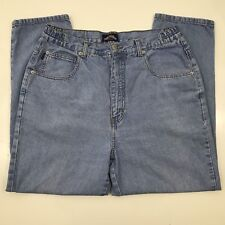 Capezio Light Wash Vintage Mom Jeans Tapered Leg High Waist No Size Tag 32x 26.5