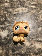 Authentic littlest pet shop lps chow dog # 1996 Brown Fluffy Dog Blue Eyes