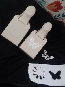 Martha stewart paper punch lot of 2 Butterfly and flower