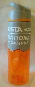 USTA National Campus Tennis Sports Water Bottle 22 oz BPA Free Travel USA Flag