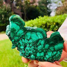 300g Natural rare malachite mineral specimen green stone crystal energy