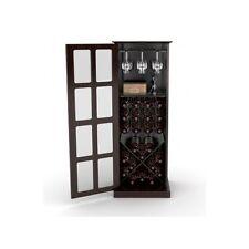 Tall Wine Cabinet Storage Wooden 24-bottle Bar Storage Cellar Rack Pantry Hutch