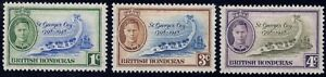 1949 British Honduras SC# 131-133 - Battle of St. George's Cay, 150 Anniv - M-H