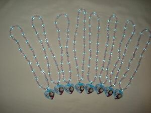Lot of 8 Disney Frozen Necklace Elsa Anna Winter Party Favors Jewelry Gift 2