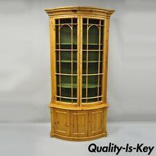 Tall Spanish Gothic Renaissance Wire Front Door Bookcase Hutch Cabinet