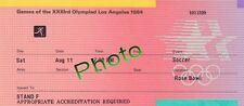 Photo Ticket Billet 1984 Finale France Brésil JO Los Angeles Football Soccer
