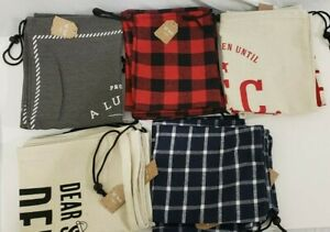 Christmas Santa Sack XMAS Gift Sack Stocking Storage Burlap Bag