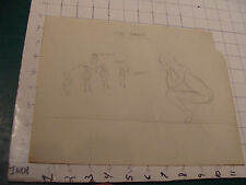 DRAWING by Alexander Dennet:1930s double sided sketchs Political cartoon NRA ETC