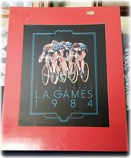 Peter J.Heer L.A.Games 1984 Olympic Bicycling Print Matted inside Plastic Cover