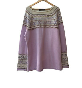 MARINA RINALDI SPORT Embellished Wool Blend Jumper Sweater Size XL 18AU RRP $799