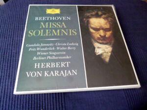 2xLP Beethoven KARAJAN Missa Solemnis Janowitz Ludwig Wunderlich DG Tulip sealed
