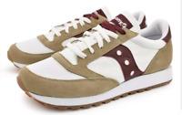 SAUCONY JAZZ Sneakers unisex bianca logo vino 38,5