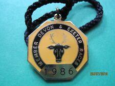 Exeter Horse Racing membres badge - 1986 très bon état!!!