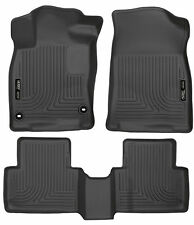 2016-2017 Honda Civic Sedan/Hatchback Black Husky Liners 1st & 2nd Row FloorMats