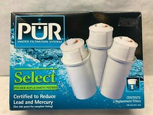 PUR Box 3 Pitcher Replacement Filters CRF-553 NEW