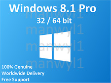 Windows 8.1 Professional Pro 32 / 64 bit Product Activation License Key Scrap PC