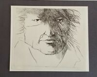 "Leonard Baskin ""Francisco de Goya ""  Mounted offset Lithograph  1973 PlateSigned"