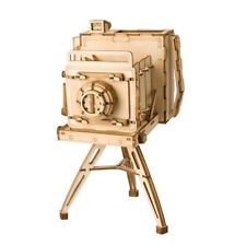 Vintage Camera Modern 3D Wooden Puzzle, 7-Inch