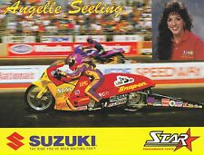 1996 Angelle Seeling NHRA Pro Stock Motorcycle Hero Card Photo