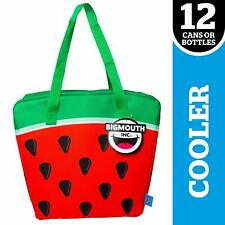 Big Mouth Super Chill Watermelon Cooler Bag Red Green Beach Tote holds 12 cans