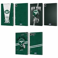 OFFICIAL NFL NEW YORK JETS LOGO ART LEATHER BOOK WALLET CASE FOR APPLE iPAD
