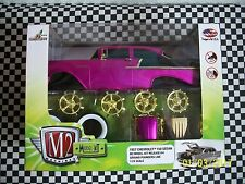 M2  1/24  57 CHEVY  MODEL KIT  (  REL.  4   )   PURPLE  AND BLACK  CHASE MOMB