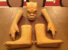 Star Wars Life Size Master Crafted Bossk Mask Hands and Feet Prop Replica Bust