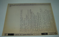 Ersatzteilkatalog auf Microfich Audi A3 / S3 / Quattro Typ 8L ab Baujahr 1997!