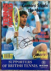 Jimmy Connors autograph Tennis World Magazine