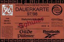 Ticket RL 97/98 Jahreskarte Hannover 96, Dauerkarte Niedersachsenstadion