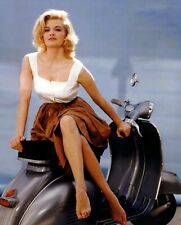 """Angie Dickinson Vespa Scooters Mods 10"""" x 8"""" Photograph 3"""