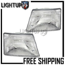 1998-2000 Ford Ranger Pickup Left Right Sides Headlights Headlamps Pair