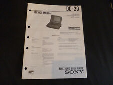 ORIGINALI service manual Sony dd-20