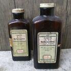 "Vintage Eli Lilly Amber ""Methenamine"" #771 #772 Embossed Medication Bottles"
