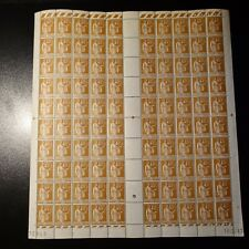 FEUILLE SHEET TIMBRE TYPE PAIX N°282 x100 NEUF ** LUXE MNH COTE 460€