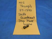 Triumph 57-1390 Shift Quadrant Stop Plate Screw NOS  NP671