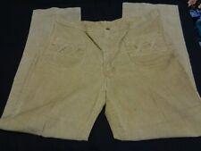 Vtg 70s Wrangler size 38X32 Tan Corduroy Cord Pants Hippie