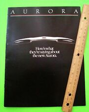1993 OLDSMOBILE AURORA DLX COLOR CATALOG Dealer Brochure ROAD TESTS Reviews XLNT