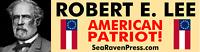 "ROBERT E. LEE (American Patriot)  High Quality Bumper Sticker (11.5"" x 3"")"