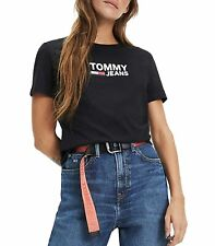 T-shirt Tommy Hilfiger Jeans in jersey di cotone con logo da donna DW0DW07029
